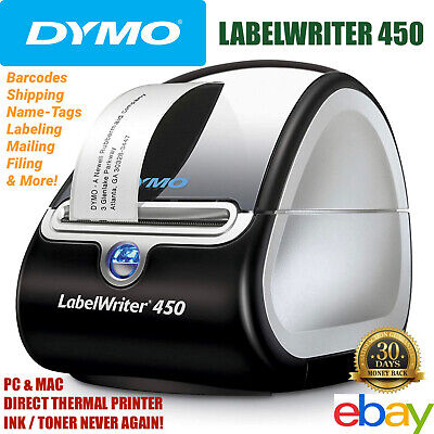 Dymo Labelwriter 450 Label Printer Direct Thermal Mail Barcode Shipping Pc Apple