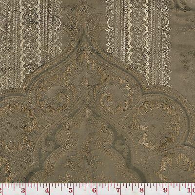 Velvet Fabric by Ralph Lauren Rtl $504/y Casimir Gilded Paisley CL Antique Bronz