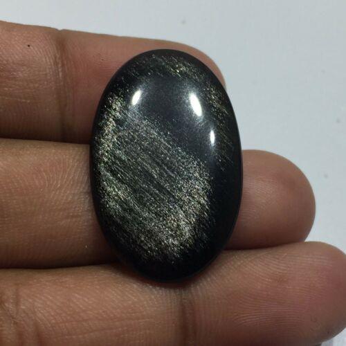 14 Cts Silver Obsidian Cabochon Gemstone PU-6
