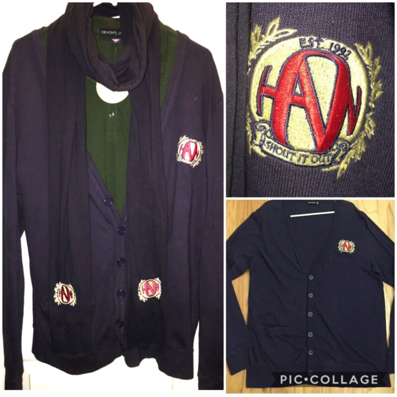HANSON Band Shout It Out Cardigan Sweater From 2010 Snowed In Christmas Special