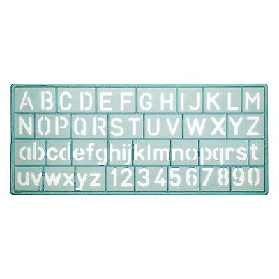 Schablone, Buchstaben und Zahlen, 10mm Schrifthöhe, Schabl-größe ca. 14,8x6,5 cm ()