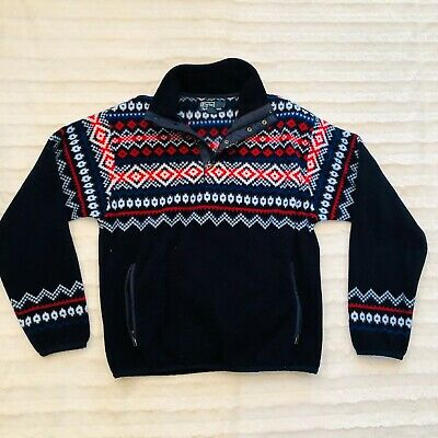 Vtg Polo Ralph Lauren Aztec Print Fleece Small
