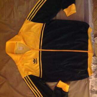 Adidas Australia track top jacket size S Yellow Green