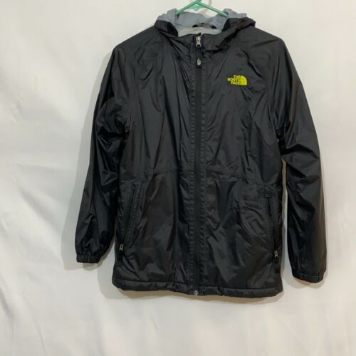 The North Face Boys Black Long Sleeves Windbreaker Hoodie Jacket Size L 14/16