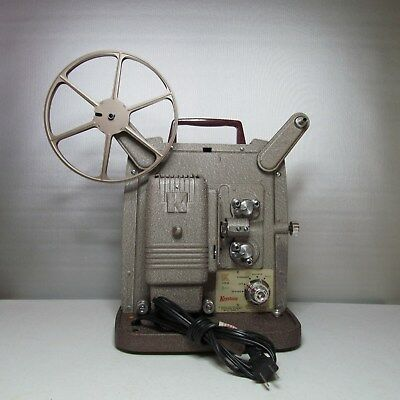 Keystone 8 Millimeter Movie Film Projector Model K-100 Tested Working Vintage
