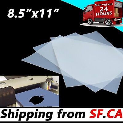 8.5 X 11premium Waterproof Instant Dry Inkjet Transparency Film50 Sheets