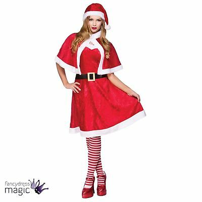 Ms Claus Kostüme (Ladies Womens Miss Mrs Ms Santa Claus Sexy Christmas Fancy Dress Costume Outfit)