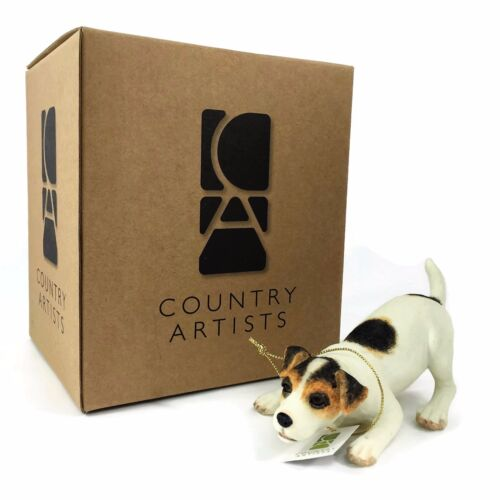 Jack Russell Crouching Figurine COUNTRY ARTISTS Dog 2007 HAND PAINTED 05204 NIB