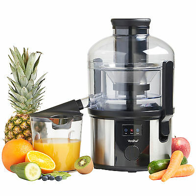 VonShef Professional 800W Whole Fruit Vegetable Citrus Juicer Juice Extractor