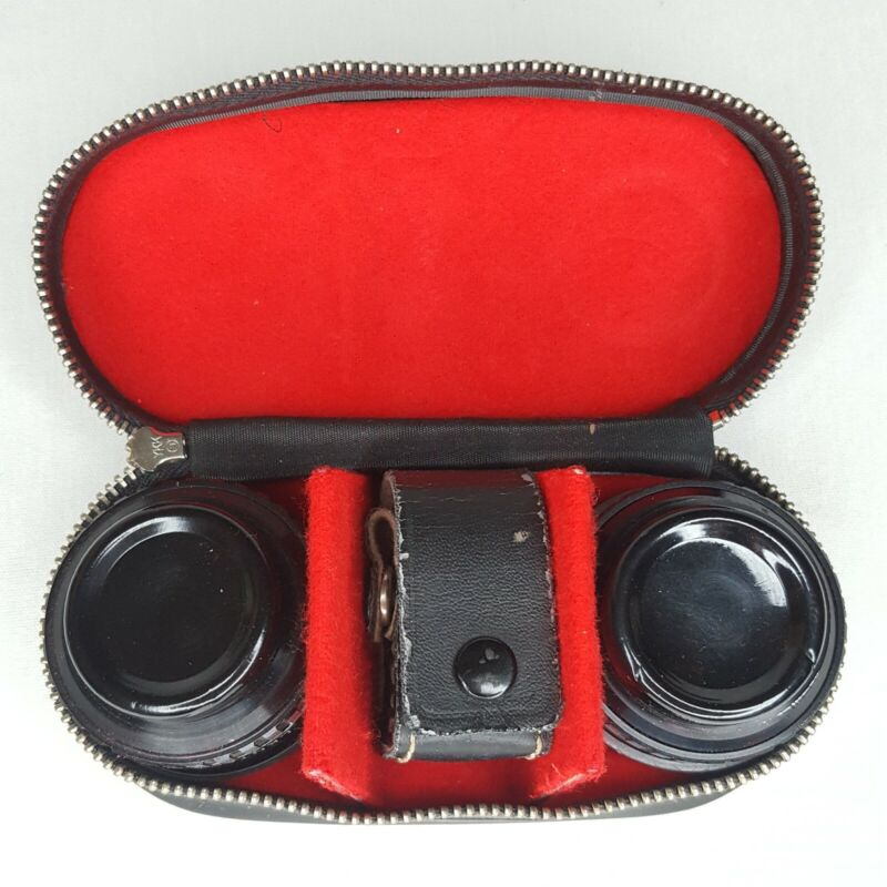 Lentar Lens Kit for Instamatic Aux. Telephoto & Wideangle Made In Japan