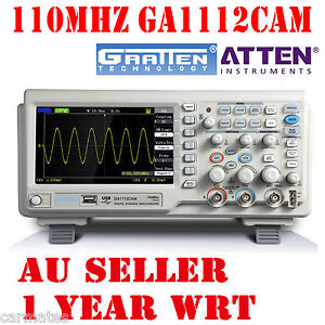 ATTEN-OSCILLOSCOPE-GA1112CAM-110MHz-2Mpt-1GS-7-LCD-Screen-USB-100Mhz-Multimeter