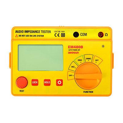 Digital Ohmmeter Lcd Audio Impedance Test Meter Speaker Voice Resistor System