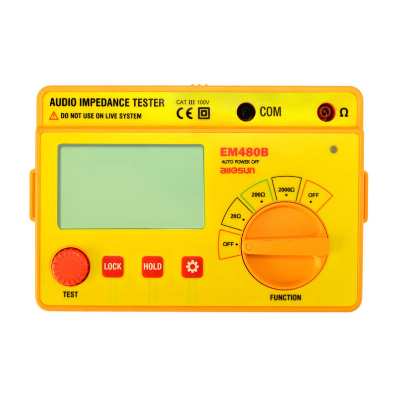 Digital Ohmmeter LCD Audio Impedance Test Meter Speaker Voice Resistor System
