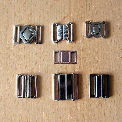 Bikini-Verschluss / BH-Verschluss aus Metall - verschiedene Größen und Formen