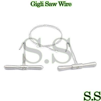 Gigli Saw 12 Wire 2 Handles Veterinary Orthopedic