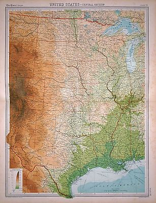 1920 LARGE MAP ~ UNITED STATES ~ CENTRAL SECTION ~ 23