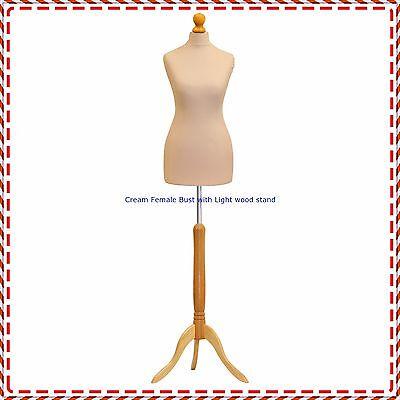 Kyпить Cream Female Tailors Mannequin Display  Dummy For Dressmakers Size UK 20/22 на еВаy.соm