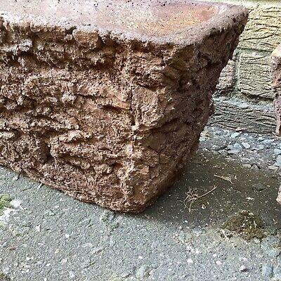 Concrete/Stone (NOT WOOD)  trough cast garden pot/planter rustic, bark effect