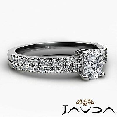 Cushion Diamond Engagement GIA G VVS2 18k Yellow Gold U Cut Prong Set Ring 0.8Ct 9
