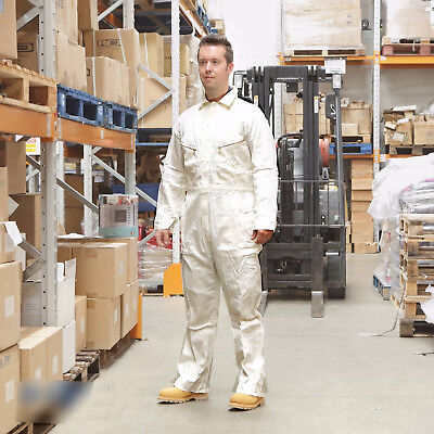 Walls 100 Cotton Work Wear Overalls Coverall Painters Boiler Suit White Rrp 32