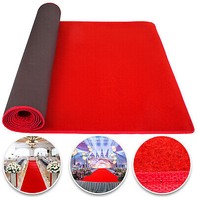 Easy Party Decorations (4x1M Red Carpet Aisle Floor Rug Party Decor Soft Polyester  Easy Clean)