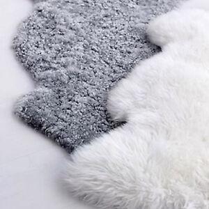 Ikea Faux Sheepskin Sheep Skin Lambswool Floor Rug Baby