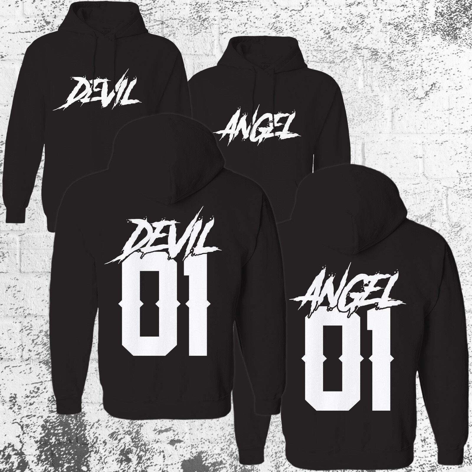 Devil 01 Angel 01 Hoodie SET Pullover Pulli Pärchen Couple Paar NO King Queen