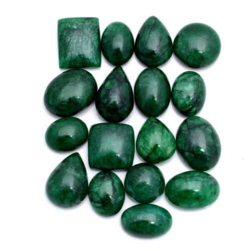 453 Cts Natural Emerald Brazilian 17 Pcs Cabochon Loose Gemstones Lot 18mm-27mm