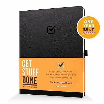 1 Year Undated Daily Planner 8.5 X 11 Productivity Planner And Organize...