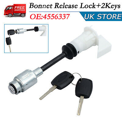 Bonnet Release Lock Latch + 2Key 4556337 For FORD FOCUS MK2 Repair Set Kit 04-12