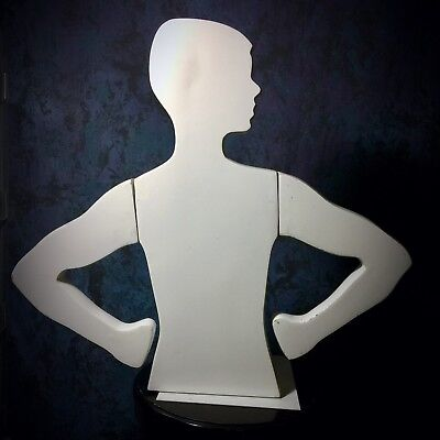Silhouette Mannequin White Gloss Kid Boy Youth Counter Shirt Display Vintage