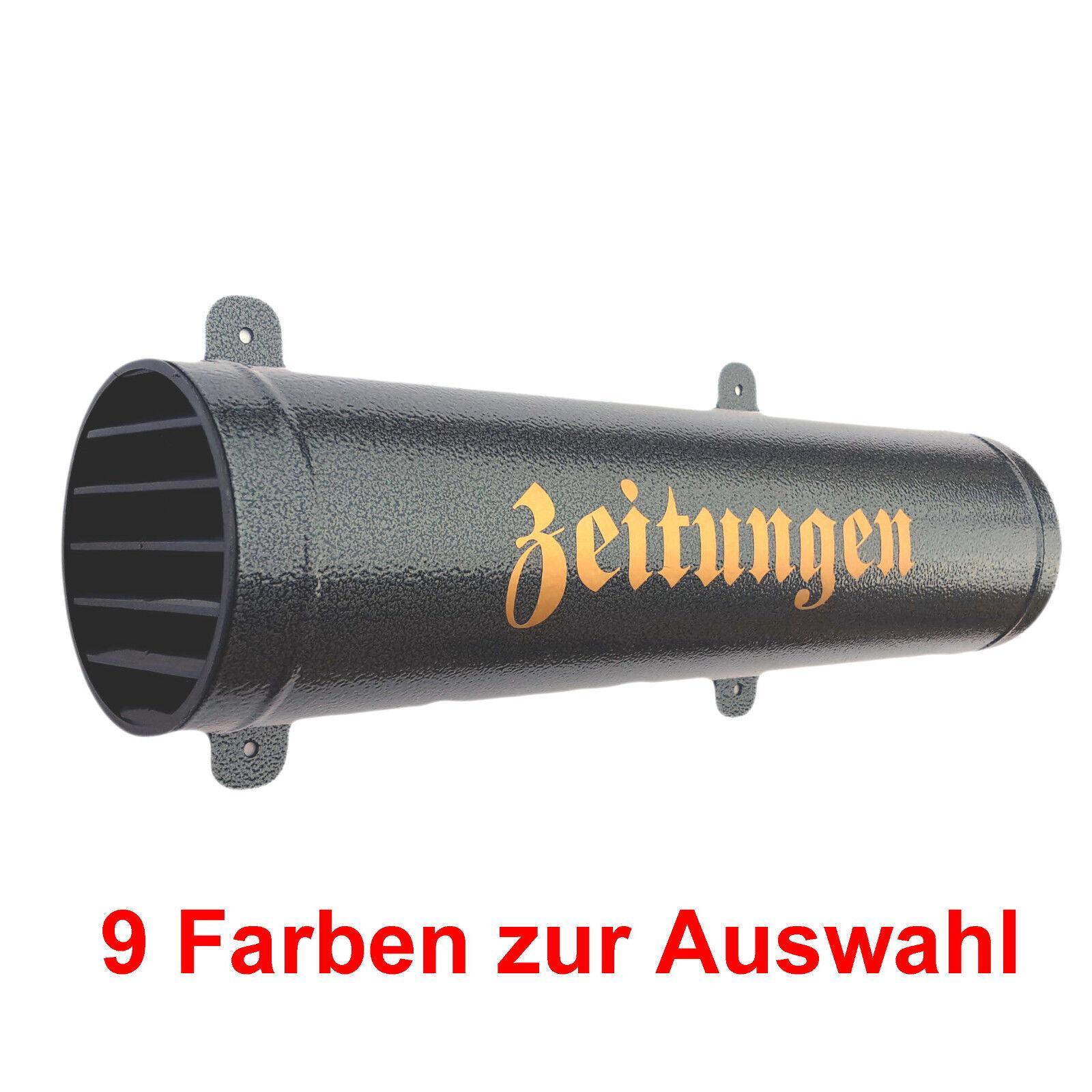 Zeitungsrolle Zeitungsrohr Verschlussgitter Metall Briefkasten Zeitungsbox Fach