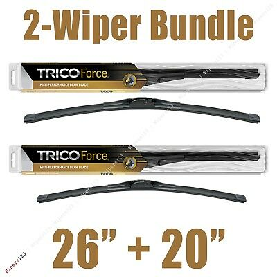 2 Wipers 26  20 Trico Force All Season Beam Wiper Blades   25 260 25 200
