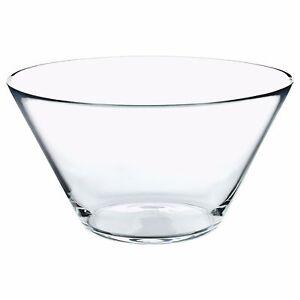 TRYGG-Conico-Vetro-Trasparente-Ciottola-28cm-Diametro-Vetrina-Scodella-IKEA