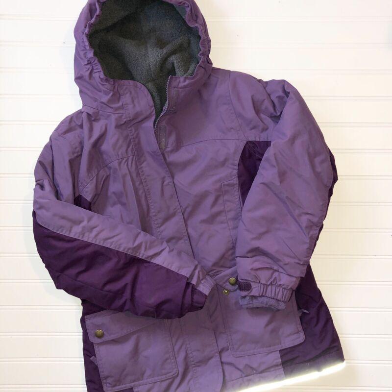 Girls Lands End M (10-12) Purple Hooded Winter Coat