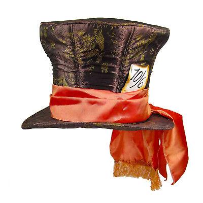 Alice In Wonderland Hat (Official DISNEY MaD HaTTeR Johnny Depp Alice In Wonderland Top HAT)