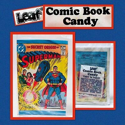 Vintage 1981 Leaf SUPERMAN Comic Book Candy Pack bubble gum container Amurol