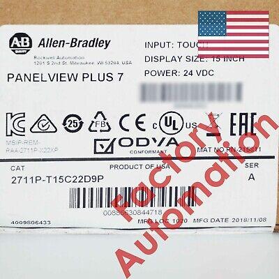 2019 Us Stock Allen-bradley Panelview Plus 7 Graphic Terminal 2711p-t15c22d9p