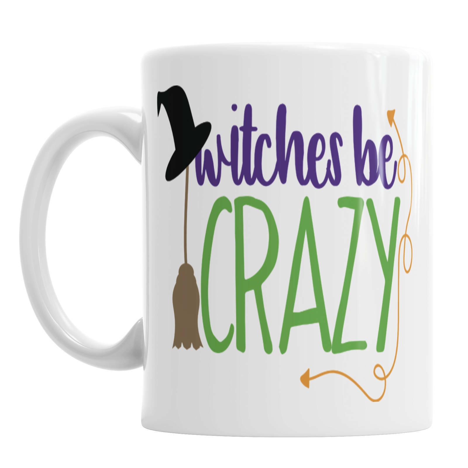 Witches Be Crazy Witches Be Crazy Mug Halloween Mugs Fun Halloween Mug Witches - $13.99