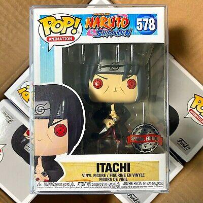 Funko Pop Naruto Shippuden Exclusive : Itachi #578 Vinyl w/Protector Case