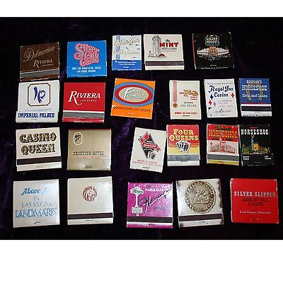 Lot of 22 Vintage, Las Vegas, Casino, Matchbooks, Collectables, Some rare!