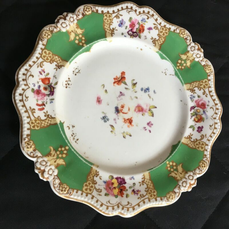 """9"""" Cabinet Plate possibly John Ridgway, England. Faded still has beauty. AS IS"""