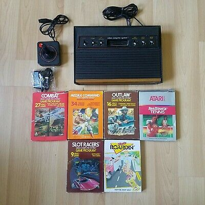 Atari 2600 Woody 6 Switch 6 Boxed Games VCS Console Joystick Tested
