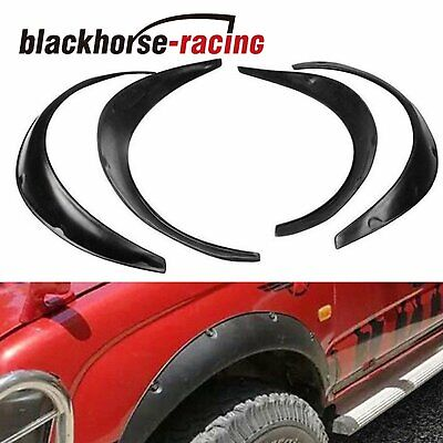 "4Pcs 2""/50mm Universal Fender Flares Wide Body Kit Wheel Arches Durable PU"