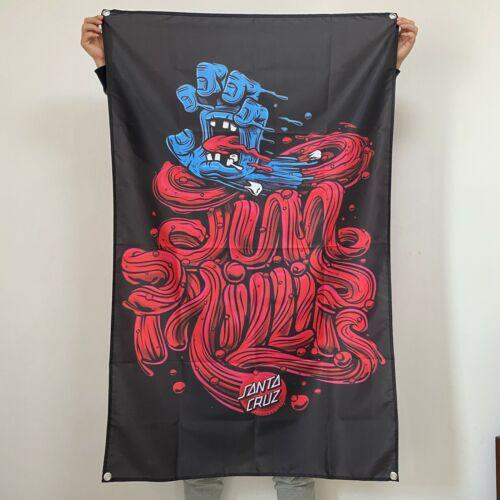 Santa Cruz Banner Screaming Hand Tapestry Logo Flag Skateboard Art Poster 3x5 ft
