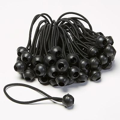 "6"" Black Ball Bungee (Bag of 50)"