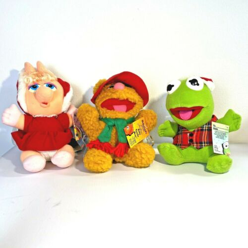 Vintage 1987 Trio of 3 Babies Fozzie, Miss Piggy, Kermit Frog From McDonalds