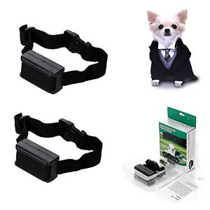 2x Anti Bark No Barking Tone Shock Training Collar for Small Medium 5-150 lb.Dog