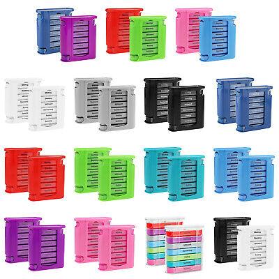 Pille Medikament Box (2x Tablettenbox 7 Tage Pillendose Pillenbox Medikamentenbox Medikamentendosierer)