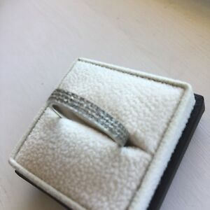 Diamond Ring Custom Made 14k Size 9.25 Crusted/Clustering